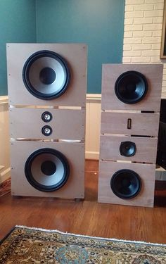 Open baffles - wish I could find some more info on these Open Baffle Speakers, Wooden Speakers, Monitor Speakers, Diy Speakers, Bookshelf Speakers, Built In Speakers, Stereo Speakers, Floor Standing Speakers, Speaker Box Design