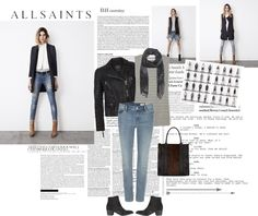 """""""AllSaints"""" by diegolohve ❤ liked on Polyvore"""