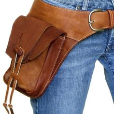 leather hip belt bag