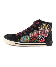 Look what I found on #zulily! TigerBear Republik Black Canvas Soapbox Hi-Top Sneaker by TigerBear Republik #zulilyfinds
