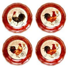 Certified International Tuscan Rooster 8.75-Inch Soup/Pasta Bowl (Set of 4) - BedBathandBeyond.com