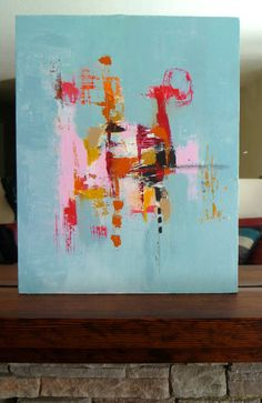 "Modern Art an Original  Abstract Landscape...A Painting by Christina Romeo TITLE: ""Deceit"""