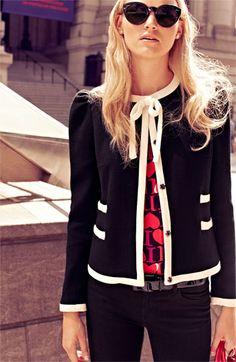 Milly 'Marizia' Bow Detail Jacket