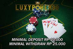 Daftar judi domino qq poker online terpercaya 10rb tentu sangat menjadi idaman para pemain domino qq poker online indonesia dengan minimal depo 10ribu.