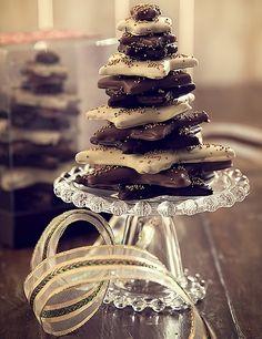 Para ver e para comer: árvore de gingerbread com chocolate da Sucrier (Decoração de Natal | Christmas decor)