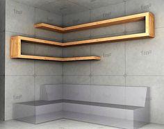 wood corner shelf ideas 4