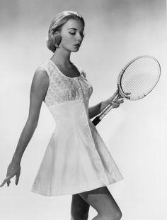 A Model Wearing a Tennis Dress, 1950
