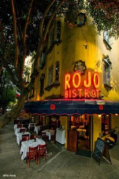 Rojo Bistrot. (French food) Mexico City. MEXICO.
