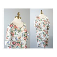 Sheer Floral Chiffon Shift Oversize Dress by waywardcollection, $28.00