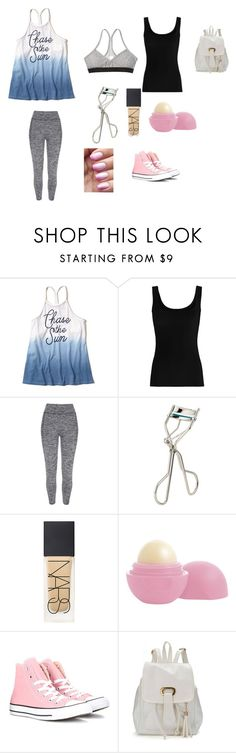 School Day #2 by brooklyn-953 on Polyvore featuring Twenty, River Island, Converse, Georgie Beauty, NARS Cosmetics, Eos and Hollister Co.