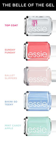 This is huge news: Essie has come out with a gel top coat that can go on top of any other nail polish and sets with no UV light needed. It has all the qualities of a gel manicure without the price of going to a salon or investing in an at-home kit. We're either dreaming or Essie has been reading our minds. Either way, easy gel manis are finally here!