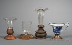 Four Items with Make-Do Repairs, 19th century, a Ch