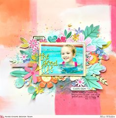 I'm tellin' ya, Paper 06 is simply irresistible! It just HAS to be fussy cut :) Missy Whidden is sharing a lovely, colorful layout today...