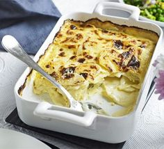 Horseradish potato dauphinoise  My niece cooked this for lunch today and it tastes great. She didn't use the cream and milk though, just loads of horseradish.