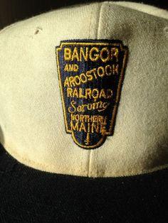 a99329a48a0 Old Bangor and Aroostock Railroad Monogrammed Adjustable Baseball Hat Maine  Rare  Unbranded  BaseballCap Bangor