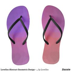 LoveGeo Abstract Geometric Design - Night Flowers Flip Flops - Durable Thong Style Hawaiian Beach Sandals By Talented Fashion & Graphic Designers - #sandals #flipflops #hawaii #beach #hawaiian #footwear #mensfashion #apparel #shopping #bargain #sale #outfit #stylish #cool #graphicdesign #trendy #fashion #design #fashiondesign #designer #fashiondesigner #style