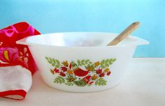 Vintage Mid Century Bowl Casserole Arcopal French by ToucheVintage