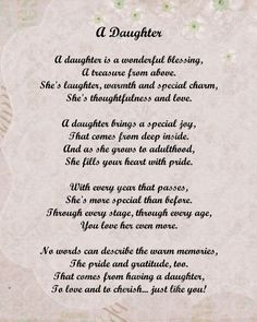 New Birthday Quotes For Mom From Daughter Poems Dads 45 Ideas Mom Quotes From Daughter, Letter To My Daughter, I Love My Daughter, Poems For Daughters, Mother Daughter Poems, Teenage Daughters, Happy Mothers Day Daughter, Daddy Daughter, Mom Birthday Quotes