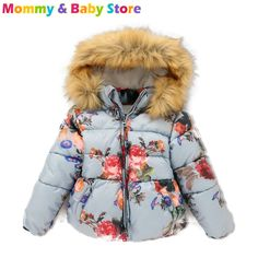 2016 New Jacket down Winter Jacket For Girl 2-8 years Hooded Fur Collar Kids…