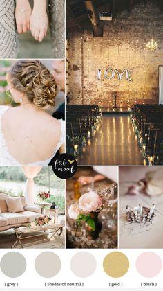 Autumn wedding colors palette { Neutral Wedding }