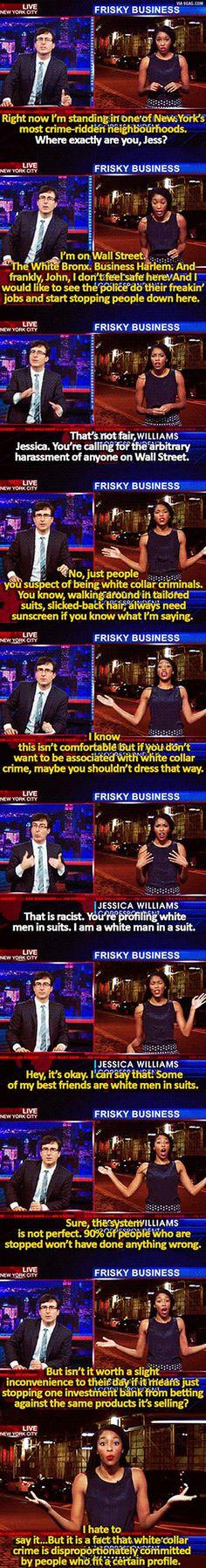 Fighting white collar crime.