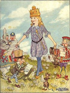 Charles Folkard's 'Alice In Wonderland' illustrations, 1921