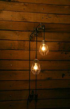 Industrial Pulley Light Trolley Wall Light by IndustrialRewind