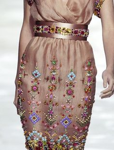 Blumarine Spring 2009 - love all the basics of this dress just not all the embroidery. too much.