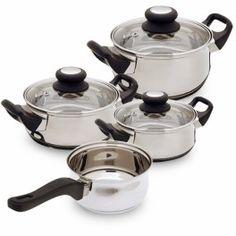 Batería de Cocina Acero Inoxidable (7 piezas) - | www.kjota.com