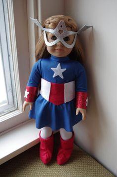 Super Hero costume   Captain America parody for 18 by geiserweaver, $15.95