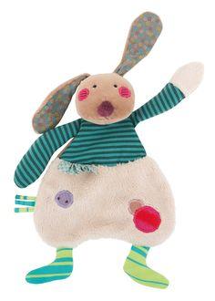 Le doudou lapin Jolis pas Beaux chez Saperlipopette Moulin Roty la Boutique 28 rue de la Scellerie à Tours