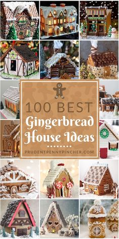 100 Best Gingerbread House Ideas From classic gingerbread houses to easy gingerbread houses, there's plenty of creative gingerbread house decoration ideas for inspiration Gingerbread House Designs, Gingerbread House Parties, Christmas Gingerbread House, Noel Christmas, Christmas Goodies, Christmas Treats, Christmas Baking, Christmas Decorations, Gingerbread Recipe For House