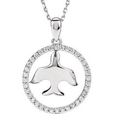 Beautiful diamond dove pendant.  a touch of class jewelers