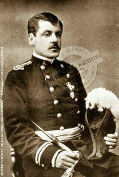 """Teniente de Estado Mayor, Luis W. Fuenzalida Ref: Antonio Bisama Cuevas """"Album Gráfico y Militar de Chile"""" Colección: Marcelo Villalba Solanas"""