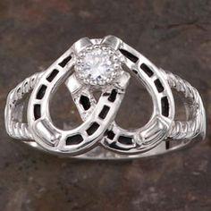 Double Horseshoe Ring Montana Silversmiths Countryouters Gorgeous Someone Please Lead Caleb To This Place Fashion Pinterest