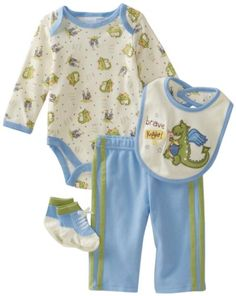 Vitamins Baby BabyBoys Brave Knight 4Piece Creeper Pant Set Blue 9 Months