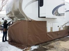 Wildcat looking good in Chocolate skirting. www.rvskirting.com
