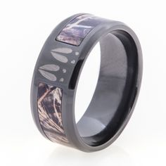 Deer Tracks & Camo Ring - Unique Titanium Rings & More | Titanium-Buzz