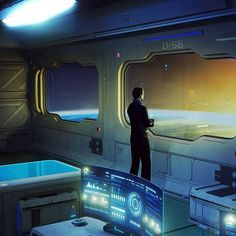 Ben Cobler contemplates the endless horizon. Seldom does the space look such peaceful in #fivenations. #conceptart #2d #3d #gamedev #indiedev #screenshot #monday #games #gaming #gamer #indiegames #gamedevelopment #crowdfunding #donate #gameon