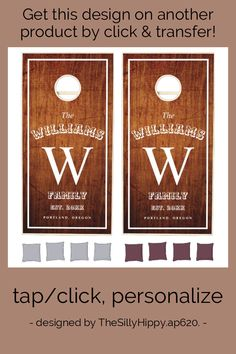 Rustic Wedding Family Monogram Personalized Cornho Cornhole Set - tap to personalize and get yours #CornholeSet #family #cottage #monogram, #wedding #cornhole,
