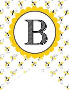 BEE Theme Classroom DecorMonogram Flags, Create a Banner / bee patternFormat: JPEGS, PDFSize: 8.5 x 11 (or use JPEGS to print different sizes)Contents: A to Z, blank banner (MS Word)Font: Cash Currency (www.dafont.com)PRINTING:For best results, print on gloss photo paper.