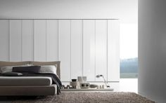 Built in Wardrobe with glass hinged doors in white lacquered glass with matt lacquered white frame. Manufactured by Presotto Italia, available through Eurolife in Sydney Australia. Modern Wardrobe, Wardrobe Design, Built In Wardrobe, Free Standing Wardrobe, Glass Hinges, Anta, Sliding Doors, Designer, Modern Design