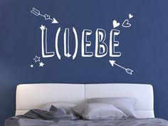Schönes Wortspiel: Wandtattoo Liebe - Lebe #Wandtattoo #Wort #Schlafzimmer