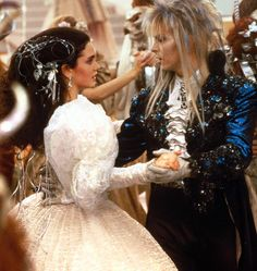 "David Bowie y Jennifer Connelly en ""Dentro del Laberinto"" (Labyrinth), 1986"