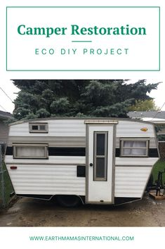 Save money and help out the planet with a fun DIY restoration project. Check out how to transform an old camper using (mostly) second hand and repurposed materials for under $600 USD.    #ecorenovations #ecofriendly #zerowate #budget #DIY #earthfriendly Old Campers, Earth Mama, Camper Renovation, Fun Diy, Sustainable Living, Zero Waste, Recreational Vehicles, Gifts For Kids, Sustainability