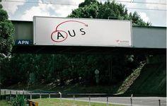 Campagna pubblicitaria della compagnia Virgin per la tratta Australia - USA
