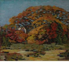 """""""Autumn Foliage,"""" Charles S. Kaelin, oil on canvas, 16 1/8 x 18 1/8"""", private collection."""