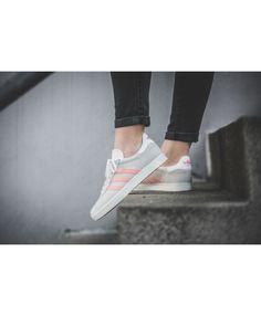 huge discount becf3 6c78b Womens Adidas Gazelle W Grey Pink By9035 Trainer
