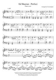 Download Perfect Ed Sheeran Piano Cover Sheet Music By Ed