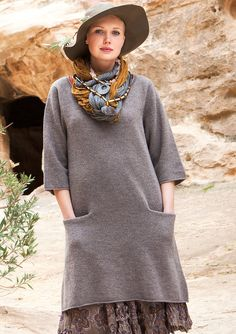Favourite tunic in wool – Sweaters & cardigans – GUDRUN SJÖDÉN – Webshop, mail order and boutiques | Colourful clothes and home textiles in natural materials.
